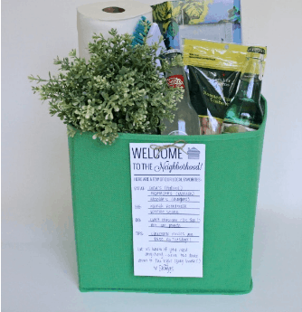 New Neighbor Welcome Gift Basket