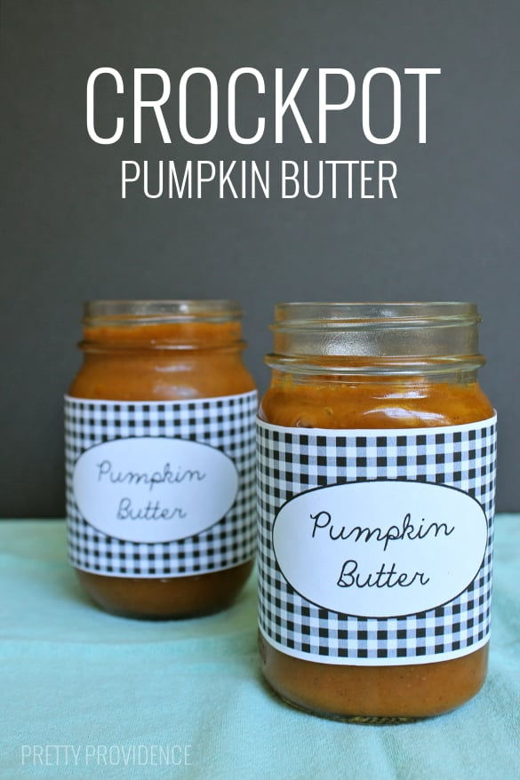 Homemade pumpkin butter made in the crockpot - like Trader Joes! SO easy.