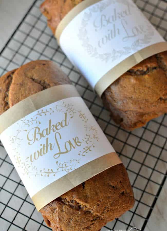 Bread Wrappers Free Printable