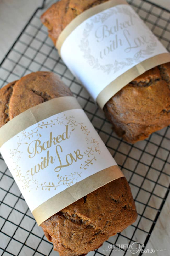 free printable bread wrap labels