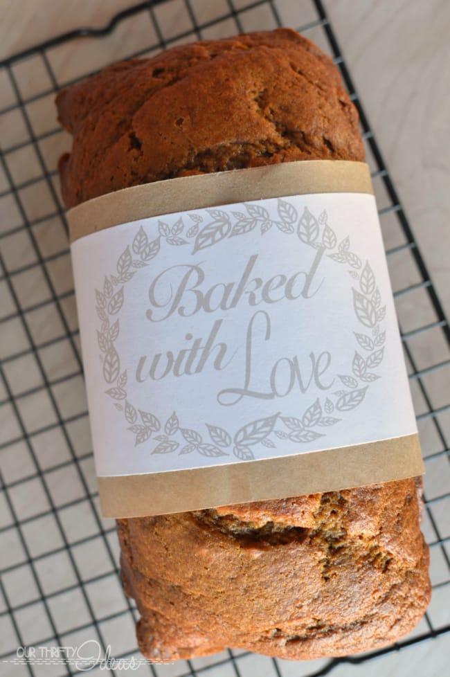 free printable bread wrap labels