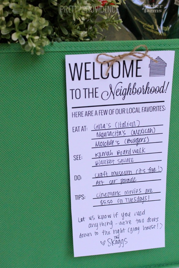 photograph about Welcome to the Neighborhood Printable known as Fresh new Neighbor Welcome Reward