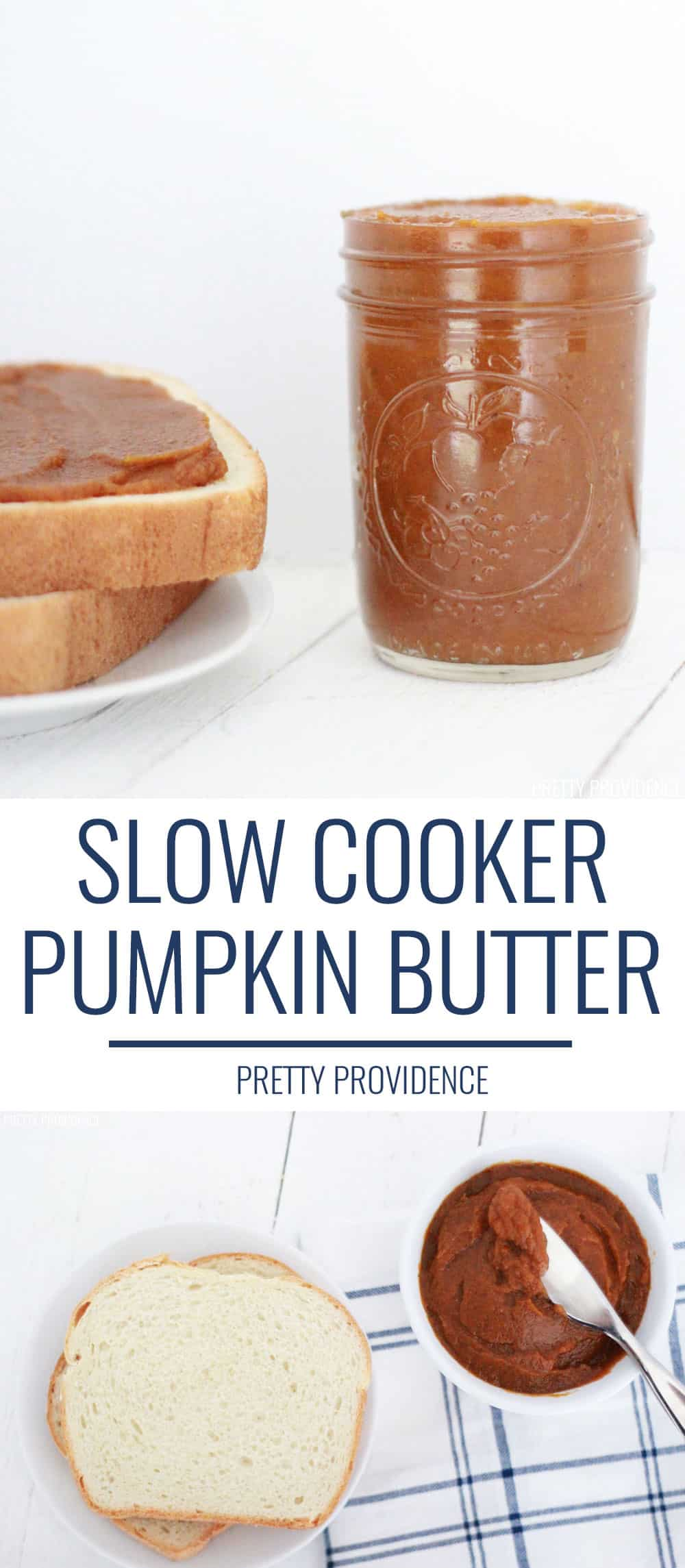This homemade pumpkin butter is made in the slow cooker and the perfect fall pumpkin treat! It's so easy too!