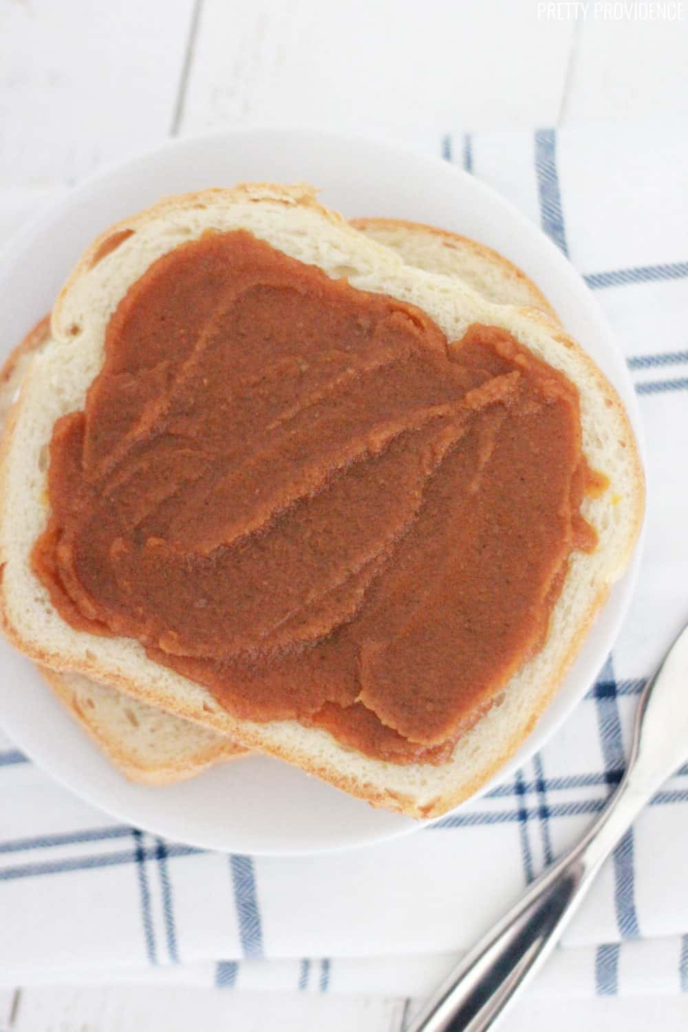 Do you love pumpkin everything? You're going to want to try this slow cooker pumpkin butter recipe! It's so easy and so good!