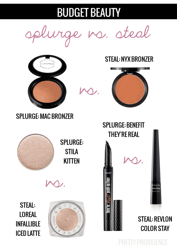 Sweet makeup dupes! This post has some great budget makeup recommendations.