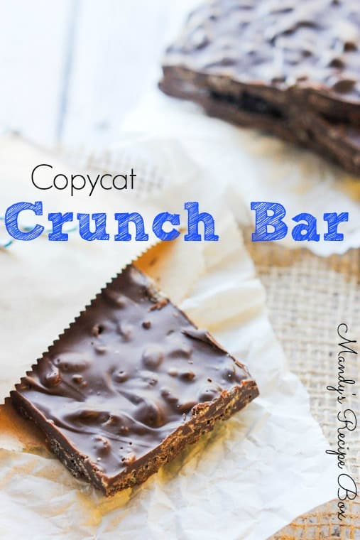 Copycat Crunch Bar