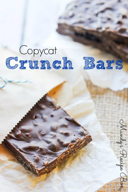 Copycat Crunch Bars