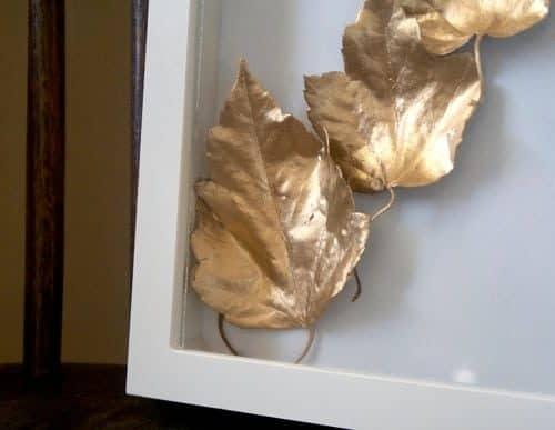 DIY // Golden Leaf Art