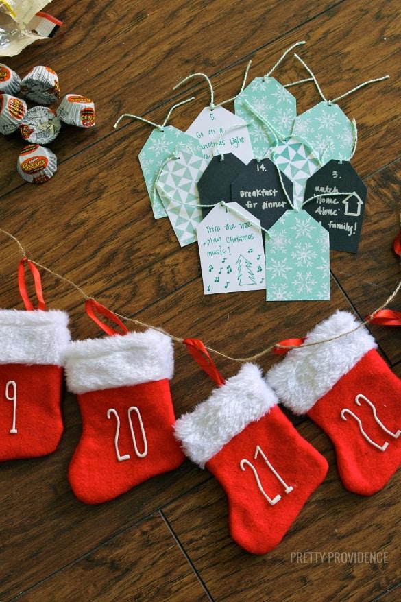 DIY Mini Stocking Advent Calendar!