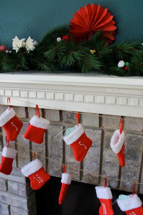 Diy Stocking Advent Calendar : Diy mini stocking advent calendar