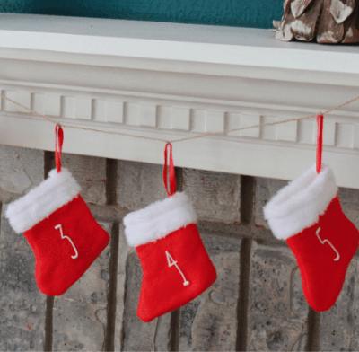 DIY Mini Stocking Advent Calendar