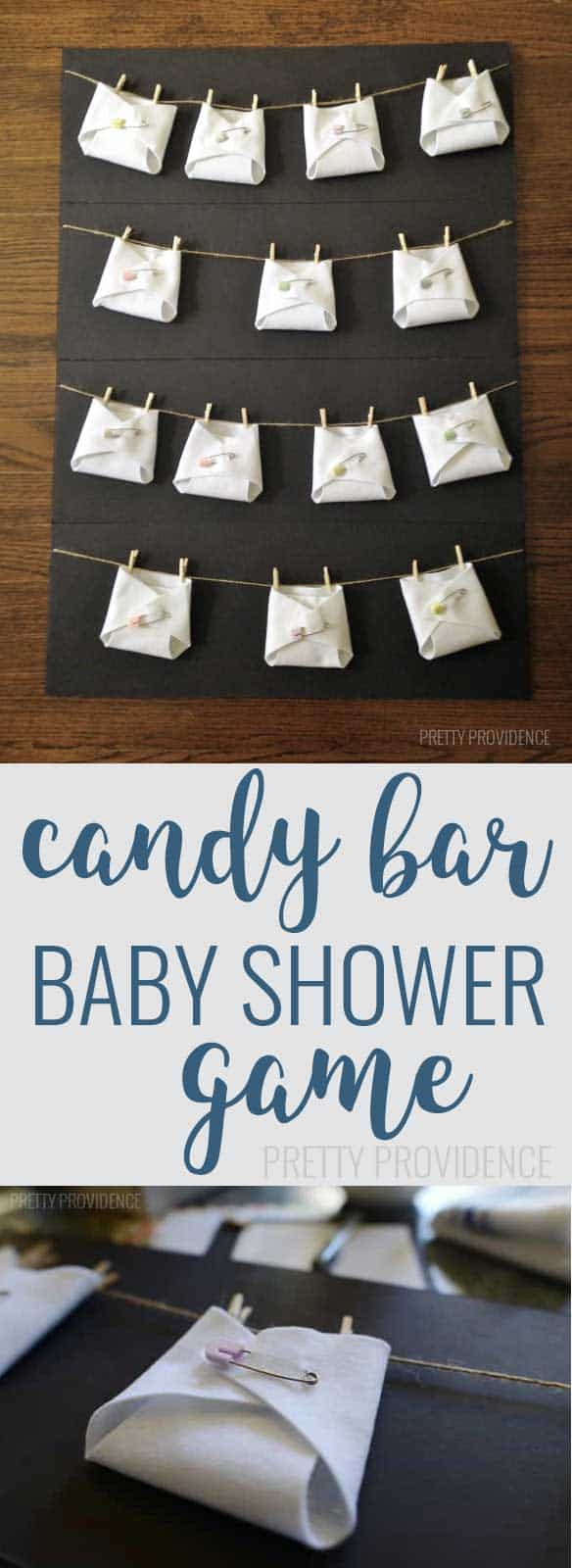 Candy bar in the diaper baby shower game - she did this in such a cute and classy way!!!