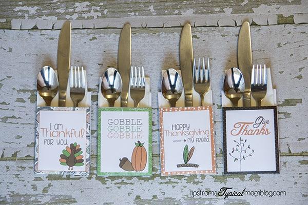 Free Thanksgiving Dinner Printables