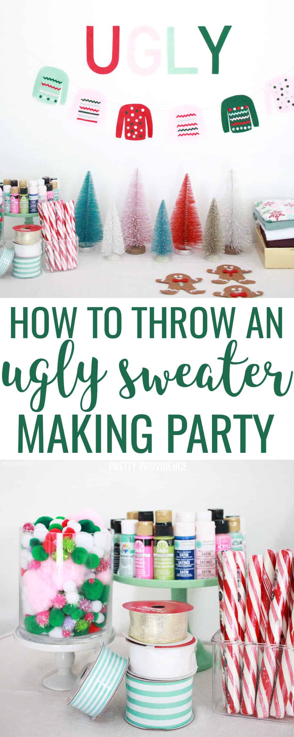 Tons of fun homemade ugly sweater party ideas, decorations and supplies! Making DIY ugly sweaters is more fun with friends! 