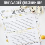 New Year's Eve Time Capsule Questionnaire