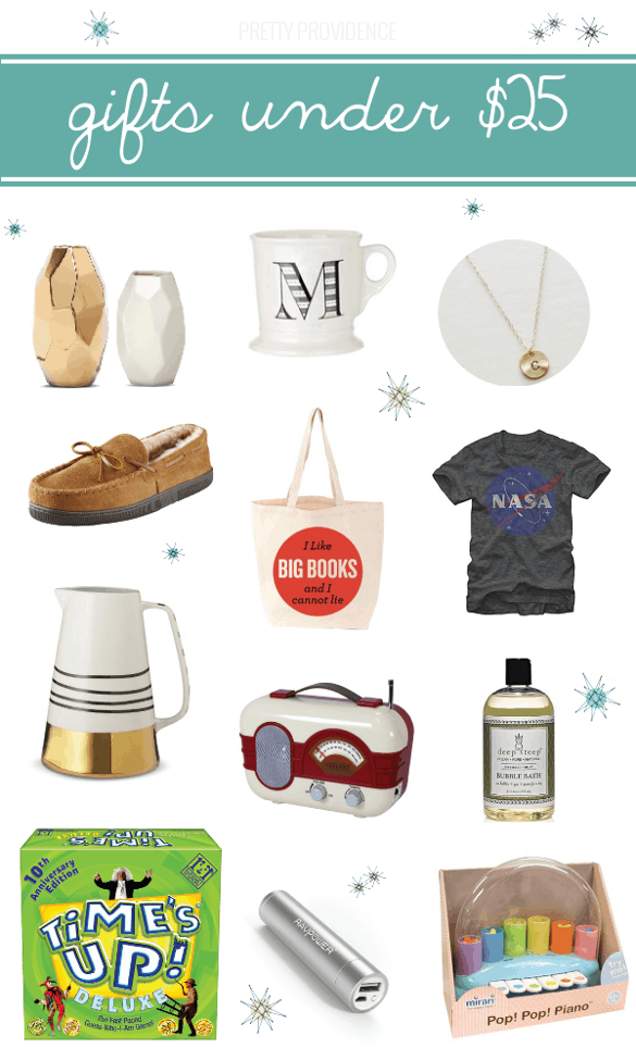 gift guide - gifts under $25!