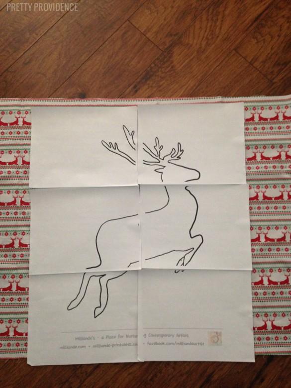 DIY Reindeer Wall Hanging