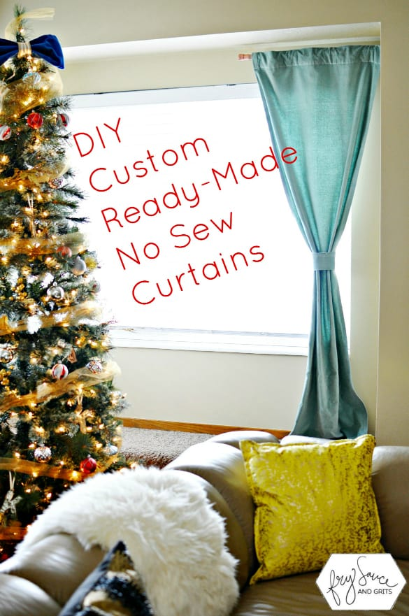 How to Customize Ready Made Curtains with No Sew Tape!