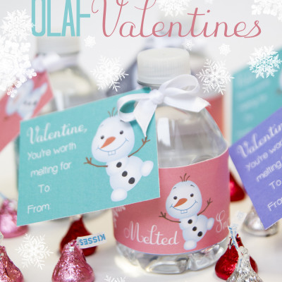 "Frozen ""You're Worth Melting For"" Free Printable Valentines"