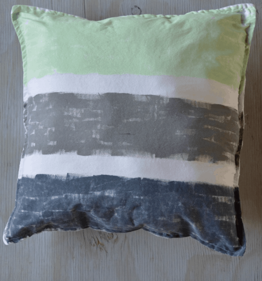 Hand-Painted Pillowcase Throw Pillow