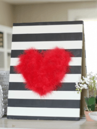 DIY Valentines Day Feather Heart