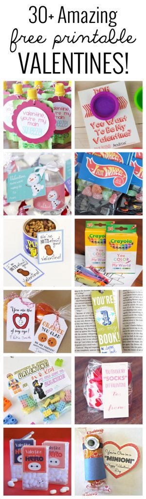 30+ Amazing free printable Valentine Ideas! No need to buy store bought when you can print these amazing ones right on your home printer!