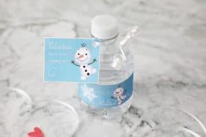 mini water bottle printable valentine wrap