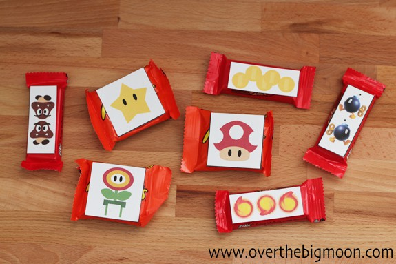 Super Mario Valentines Candy Toppers