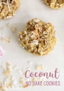 Coconut No Bake Cookies