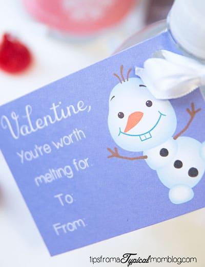 Disney Valentines Frozen Olaf