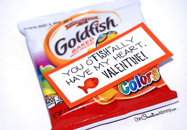 Goldfish Valentine Idea from One Creative Mommy