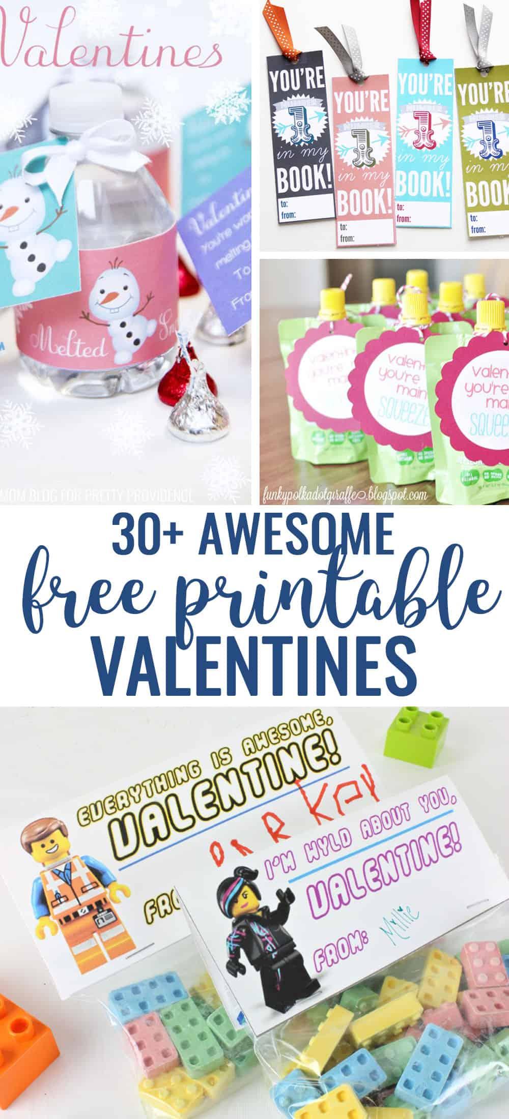 Free printable Valentines ideas - great ideas for classroom Valentines and for kids! #valentines #valentinesday #printable #freeprintablevalentines #printablevalentines #valentinesforkids #valentinesideas #classroomvalentines #freeprintables