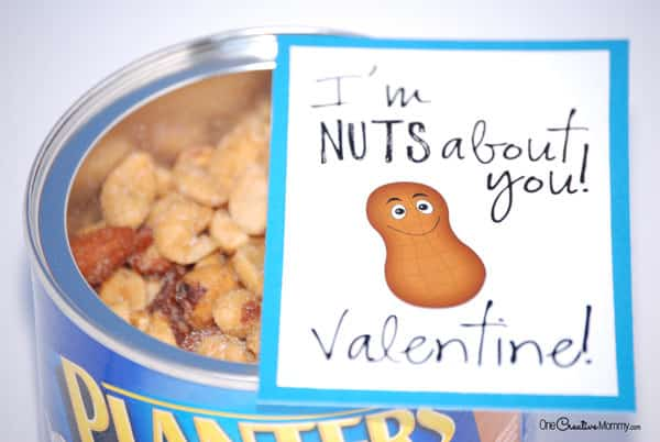 Nuts About You Printable Valentine