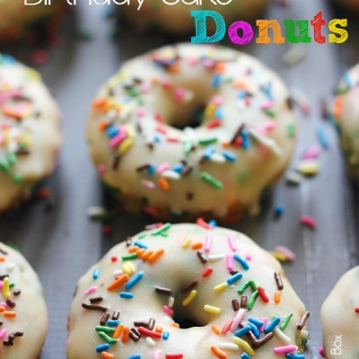 Birthday Cake Donuts