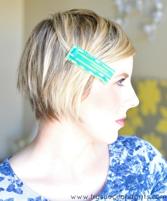 DIY Retro Fabric Hair Accessories from FrySauceandGrits.com