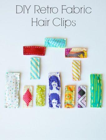 Retro Fabric Hair Clips