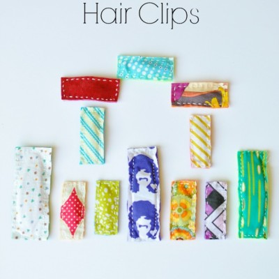 DIY Retro Fabric Hair Clip Tutorial FrySauceandGrits.com 2
