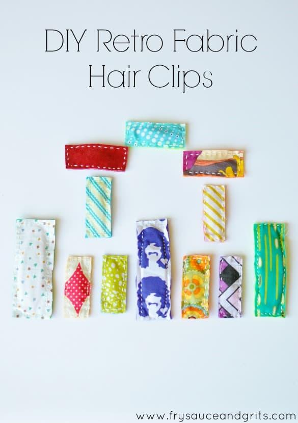 DIY Retro Fabric Hair Clip Tutorial FrySauceandGrits.com 2