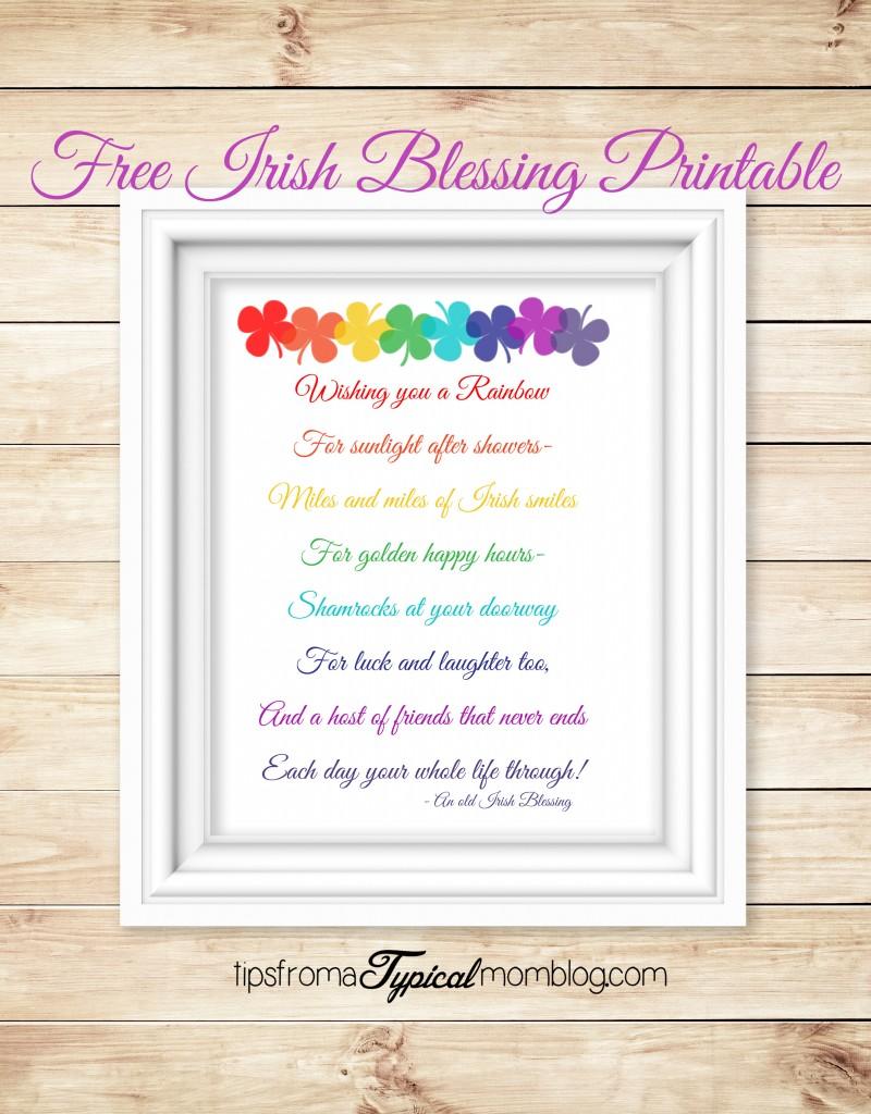 Free Irish Blessing Saint Patricks Day Printable