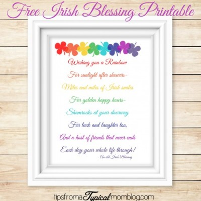Free Irish Blessing Printable for St. Patricks Day