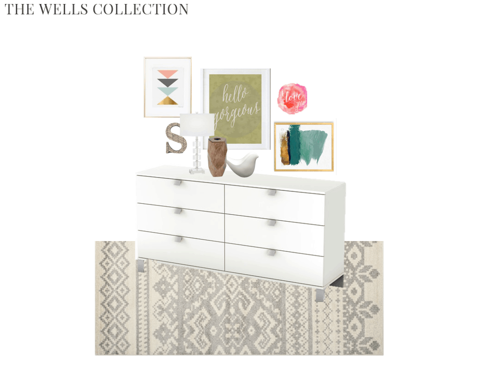 I am absolutely in love with this sweet and sassy girls room design.. I seriously want to buy every single thing!