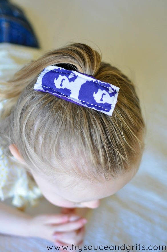 Retro Hair Clip Tutorial from FrySauceandGrits.com