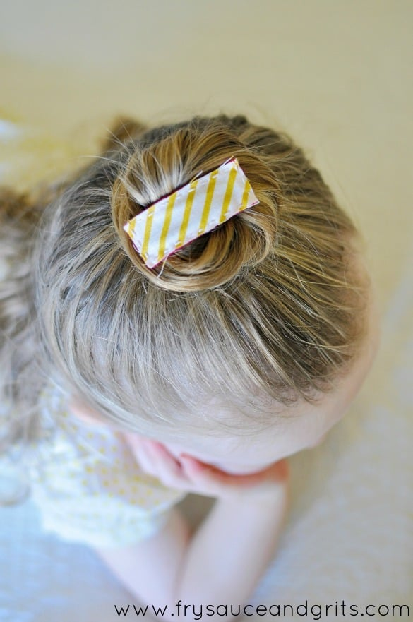 Toddler Hair Clips Tutorial from FrySauceandGrits.com