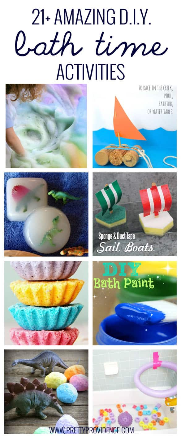 21+ Amazing bath time activities! These are all so fun, cheap, and unique!