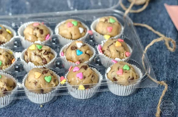Gift This: Cookie Dough Care Package- this is awesome! Then they could bake a few whenever they wanted instead of wasting a bunch