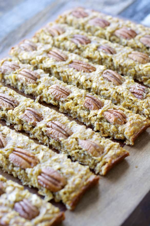 Oatmeal Banana Bars, the perfect grab and go snack