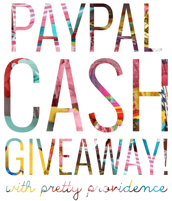 Paypal Cash Giveaway with Pretty Providence!