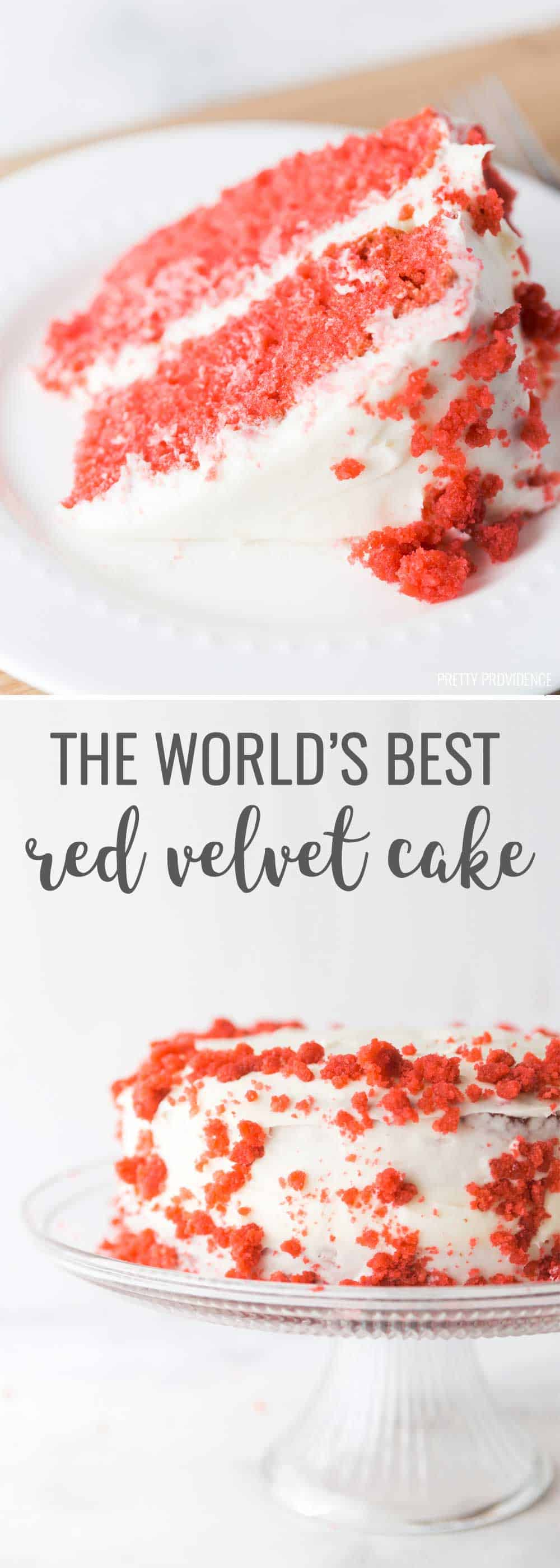 No lie, this is the best red velvet cake I have ever had. Moist & unbelievably delicious, everyone will be asking you for this easy red velvet cake recipe.  #redvelvetcake #easyredvelvetcake #redvelvetcakerecipe #redvelvet