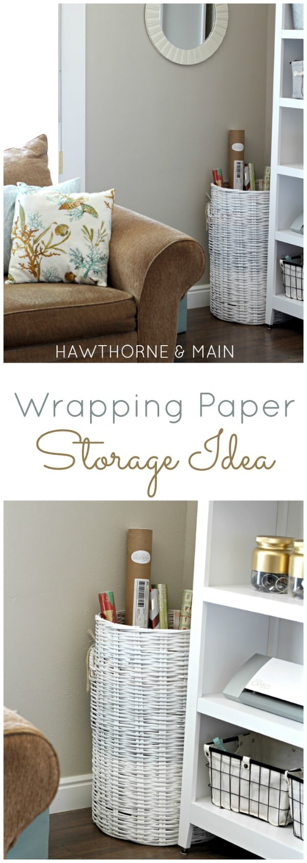 wrapping paper storage title