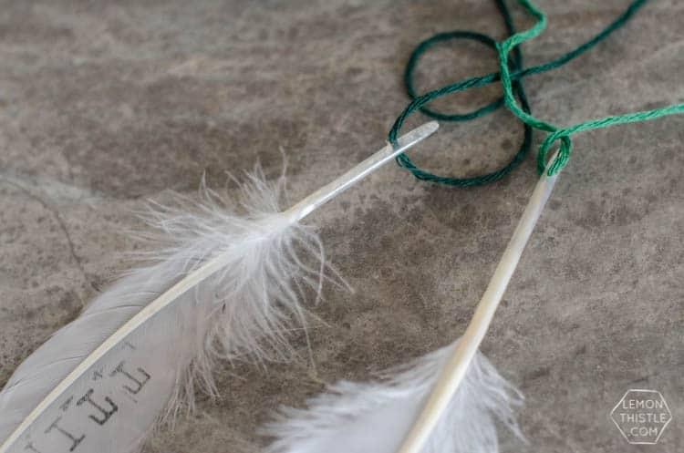 DIY Yarn & Feathers Nursery Door Decor